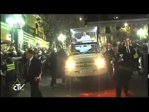 Visite du Pape François au Président de la Bolivie