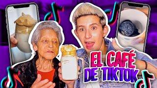 Probando COMIDA VIRAL de TIKTOK con mi ABUELA | Café espumoso & Pastel de Maruchan - No Rules
