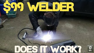 $99 125 amp welder. Worth it? new 90 a.  Harbor freight 120v budget welding review. Chicago electric
