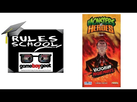 Learn How to Play Monsters Vs Heroes (Rules School) with the Game Boy Geek