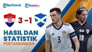 Highlight & Hasil Pertandingan Euro 2020 Kroasia 3-1 Skotlandia, Modric cs Lolos ke Babak 16 Besar