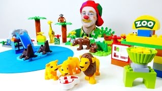 Kids toys videos. LEGO playset & toy animals for kids. Wild animals toys videos for kids