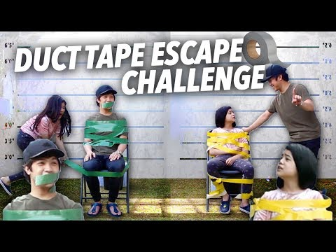 DUCT TAPE ESCAPE CHALLENGE (Pranked Brother) | Ranz and niana