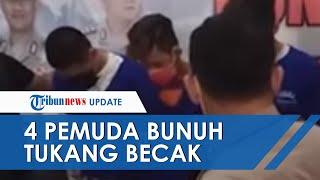 4 Remaja yang Habisi Nyawa Tukang Becak Ditangkap setelah 6 Bulan Buron, Pelaku Rampas Uang Rp7 500