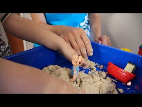 Simple Moon Sand Recipe [Crafts for Kids #2]