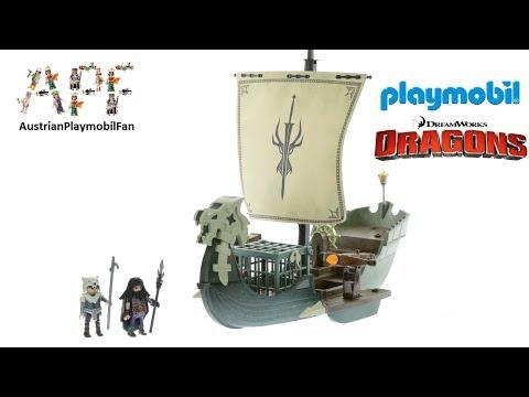 Vidéo PLAYMOBIL Dragons (DreamWorks) 9244 : Drago et vaisseau d'attaque