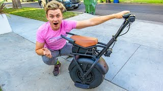WEIRD ONE WHEEL HOVERBOARD MOTORCYCLE!!