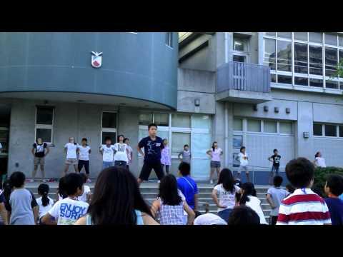 2012年8/22日ラジオ体操 海浜打瀬小校庭にて