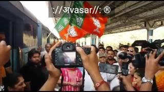 Decorated The Train That was Taken to Ambaji by Our Cabinet Minister Shri Prakashbhai Mehta.