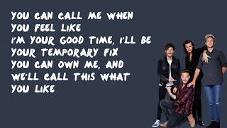 Temporary Fix   One Direction (Lyrics)