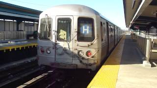 preview picture of video 'IND Far Rockaway Line: R46 H Train at B 25th St-Wavecrest (Mott Ave Bound)'