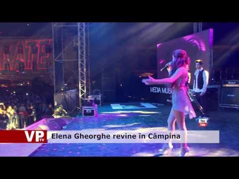 Elena Gheorghe revine în Câmpina