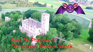 Dji Phantom, Good Old Drone Power, German Ruin, Footage, Drohnenvideo, Niederhaus, Donau Ries
