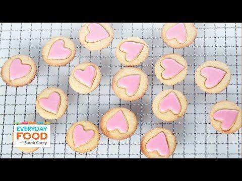 Glazed-Heart Cornmeal Cookies – Everyday Food with Sarah Carey