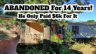 This House Has Been Abandoned And Deserted For Over 14 Years And He Bought It For $6k!
