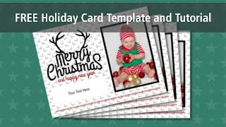 How to Use the FREE Holiday Card Template