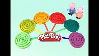 Learn Colors Play Doh Lollipops  Popsicle Super Surprise Toys