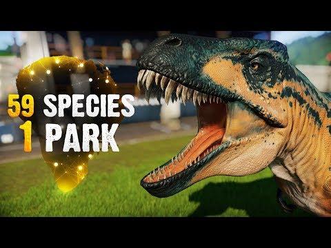 59 SPECIES, 1 PARK! | Part 1 (Jurassic World: Evolution All-Species Park)