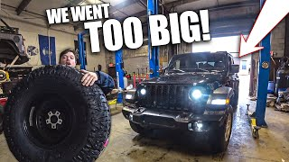 I bought MASSIVE Tires for my TOTALED Jeep Gladiator