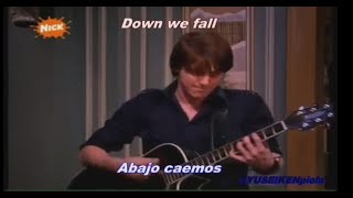 "Drake Bell - ""Down We Fall"" (Subtitulos Español - Ingles)""Drake & Josh"""