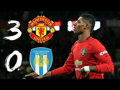Manchester United 3-0 Colchester || EFL Cup Quarter final 19/20 || All Goals & Highlights