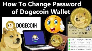 Lost Dogecoin Brieftasche Passwort