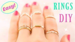 10 DIY Rings EASY & Adjustable!! How To Make A Ring | Easy Diy Rings