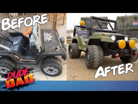 Restoring an old Power Wheels Jeep | Dude Dad