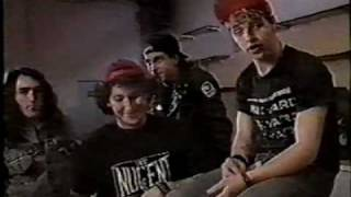 D.R.I. - 1988 Paris France Backstage Interview -