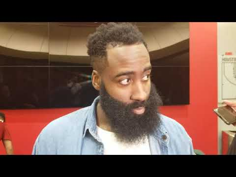 James Harden after Rockets rout of Blazers