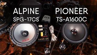 Alpine SPG-17CS vs Pioneer TS-A1600C