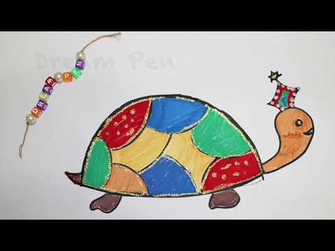 How to Draw: Turtle | Tortoise | Learning Colors