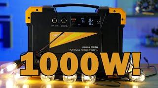 PECRON E1000 1028WH(25.2V40.8AH) PORTABLE POWER STATION, SOLAR POWER GENERATORS youtube video
