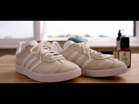 Adidas Gazelle reinigen mit Adidas Originals Cleaning Drops und Suede Liquid