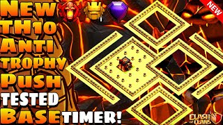Clash Of Clans | Best Th10 Trophy Pushing Base | Anti Electro Dragon | With Proof | 2019 March