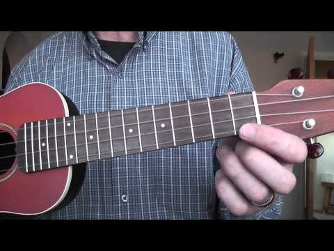 F and C7 chords on the ukulele