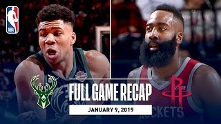 Full Game Recap: Bucks vs Rockets | Giannis and Harden Record Monster Double-Doubles