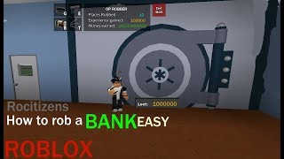 roblox rocitizens how to get materials to rob the bank