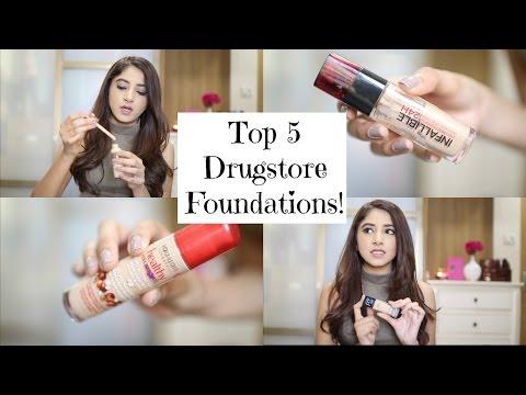 Top 5 Drugstore Foundations | Aashna Shroff