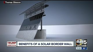 President Trump considering building proposed border wall with solar panels