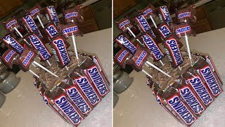 Dollar Tree Snickers Candy Bouquet!!!! DIY