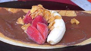 Papa's Crepes, Ice cream Crepe (Strawberry+Banana) - Korean Street Food / 동대문 할부지 크레페