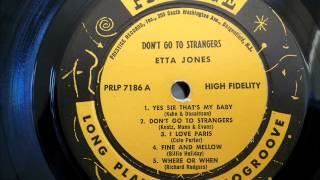Etta Jones WHERE OR WHEN with lyrics