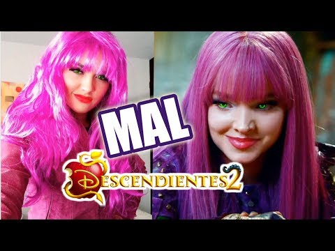 🍎 Maquillaje y Disfraz de MAL - DESCENDIENTES 2 - LOOK DE MAL