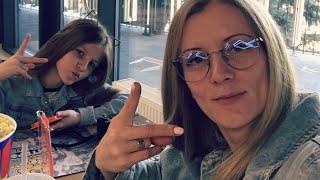 VLOG Поплакали / Галочку поставили / Суши поели / Наш выходной с Кирой