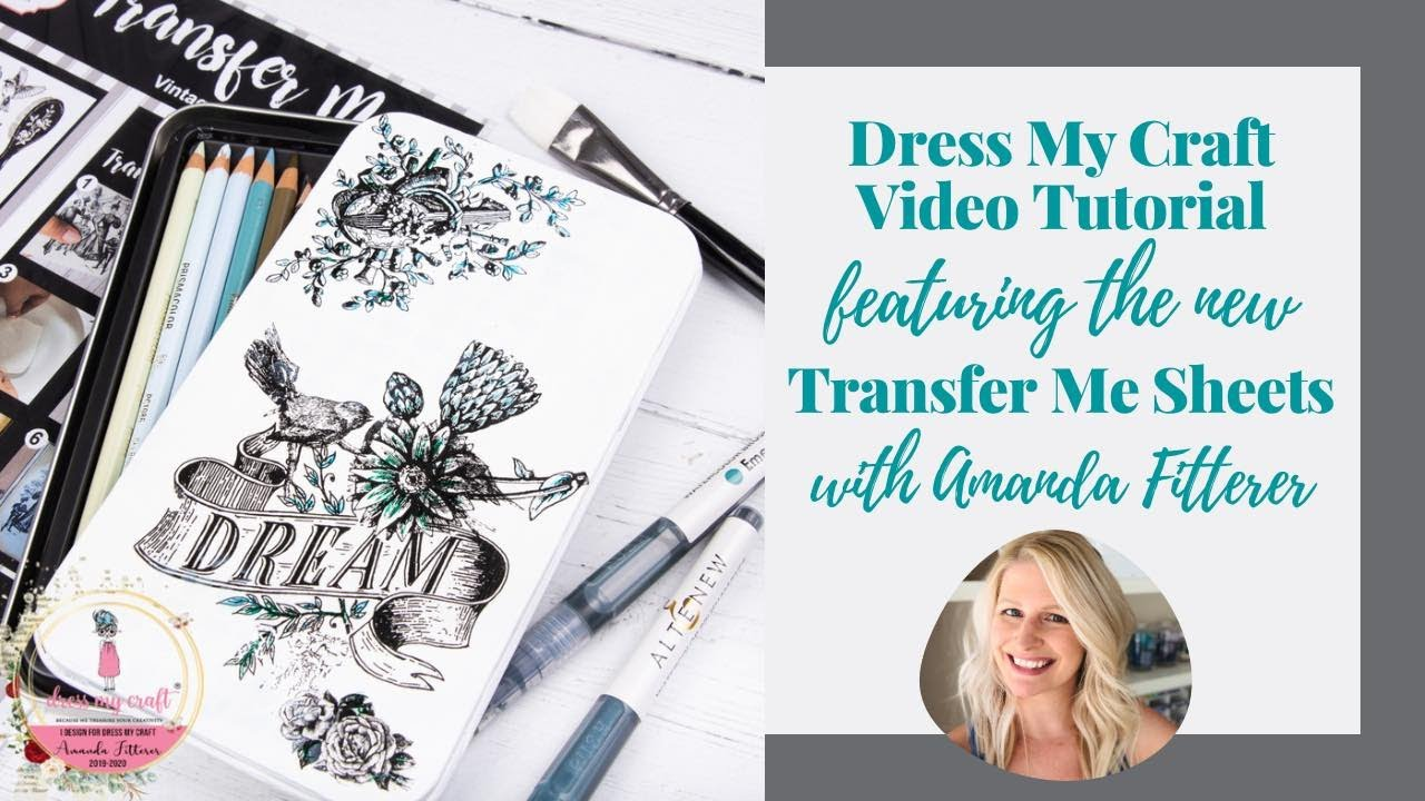 Dress My Craft Transfer Me -arkki, Lilies