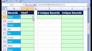 Excel Magic Trick #187: Unique List w Dynamic Formula