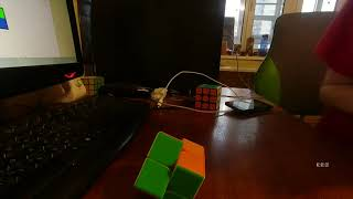 Неофициальный мировой рекорд по сборке кубика рубика 2х2 - 0.33