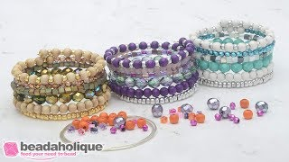 How To Make The Stacked Memory Wire Bracelet Kits By Beadaholique