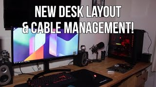 New Desk Layout & Cable Managment! - Vlog